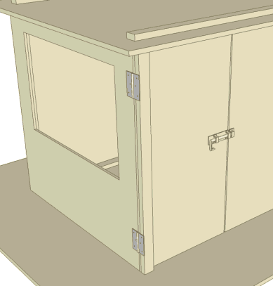 Door with hinges and measurements Door fitted with bolt latch & The Treehouse Guide - Free tree house plan - Door