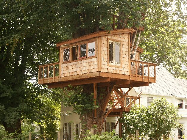 The treehouse guide usa treehouse list - Tree house plans for adults ...